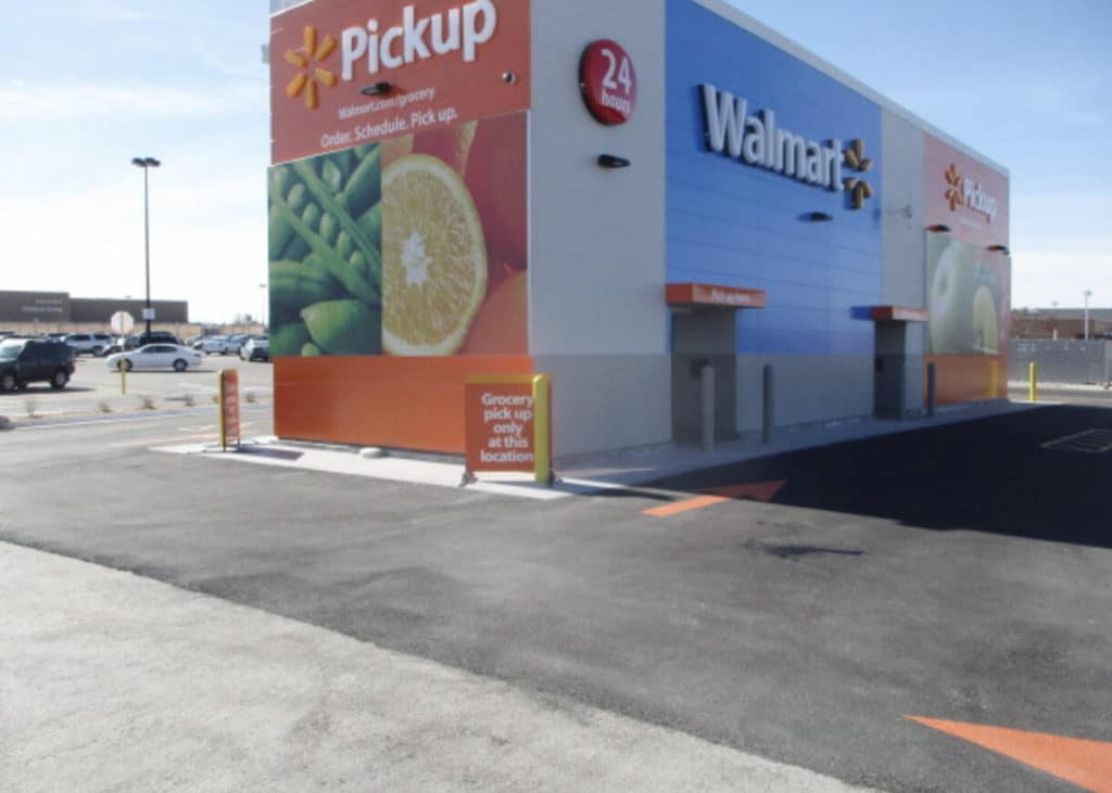 Walmart, Refrigerated, Fully Automated, Grocery Pickup SIPs Building.